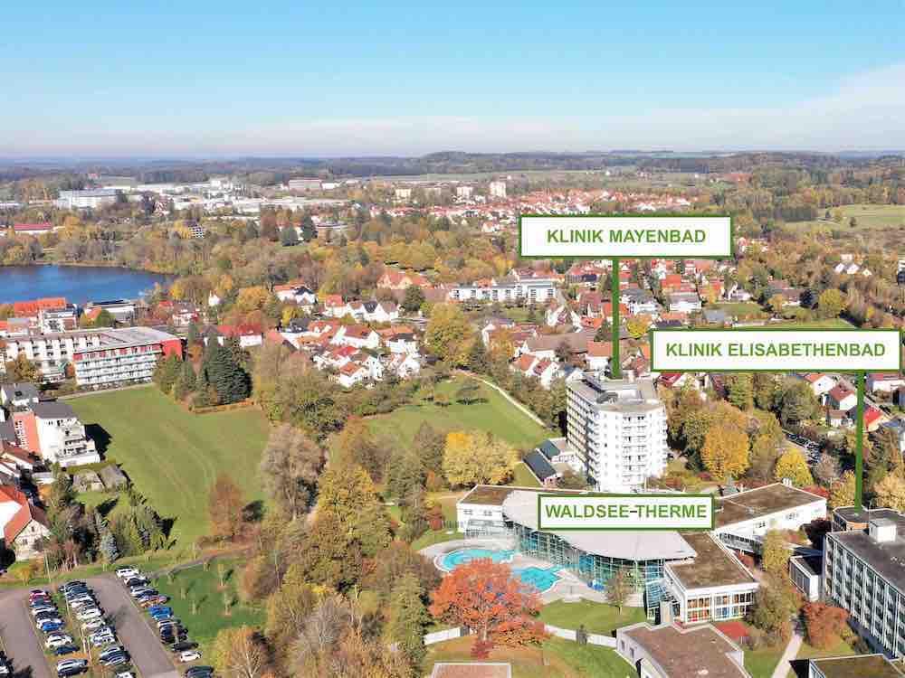 Luftaufnahme Übersicht Rehakliniken Bad Waldsee