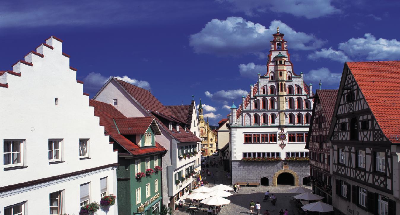 Blick auf die Altstadt von Bad Waldsee