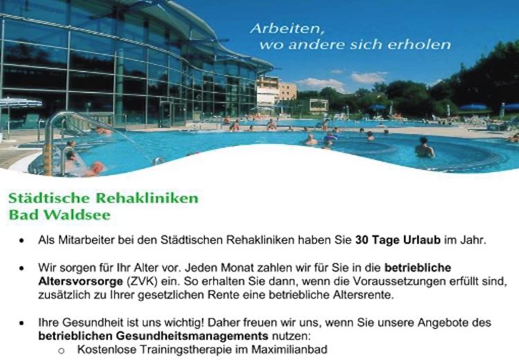 Karriere Rehakliniken Bad Waldsee als Arbeitgeber